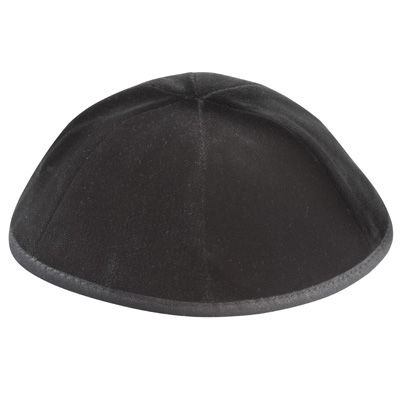 Altman™ Black Matte Kippah - 6 Parts w/ Rim