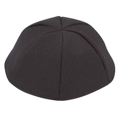 Altman™ Black Terylene Kippah - 6 Parts