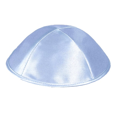Light Gray Satin Kippah