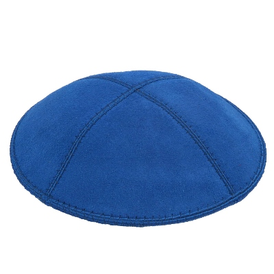 Royal Blue Suede Kippah