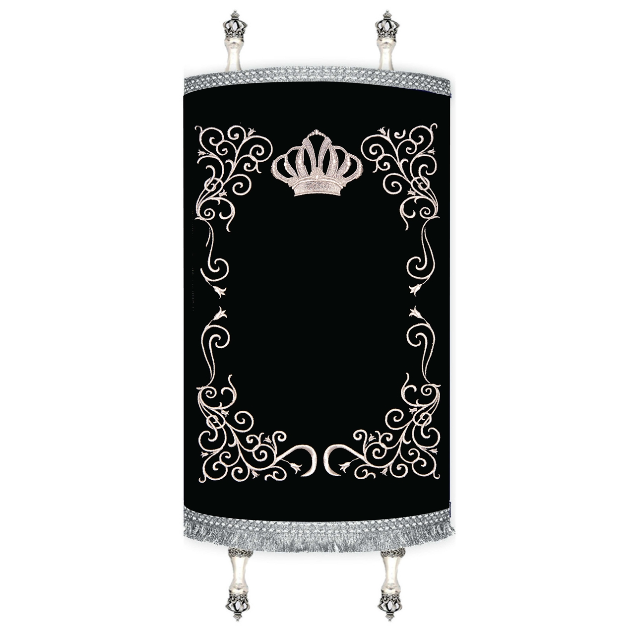 Torah Cover -  Decorative Frame Silver