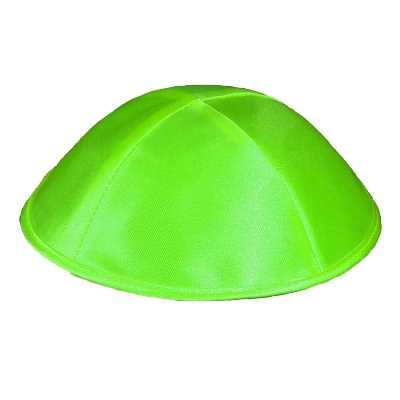 Light Green Satin Kippah